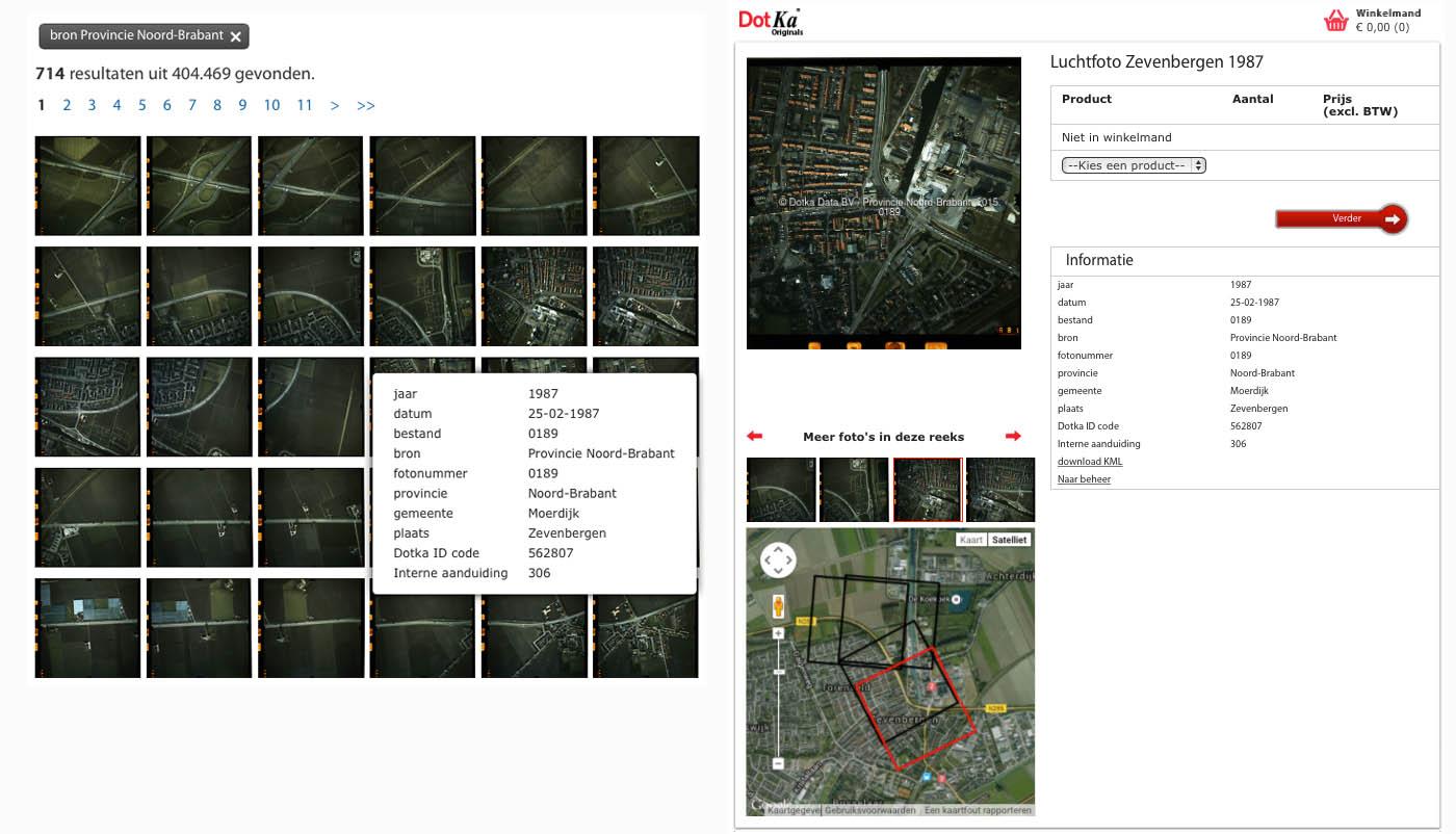 Digitale luchtfoto's uit o.a. 1987 van Provincie Brabant in de Dotka Originals beeldbank.
