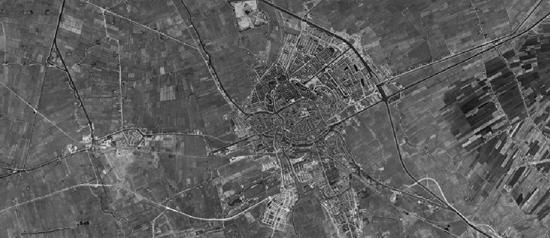 Historische luchtfoto Groningen 1959