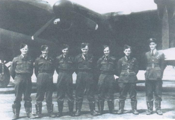 Crew Lancaster LM693, neergestort in Strijen op 16-9-1944.