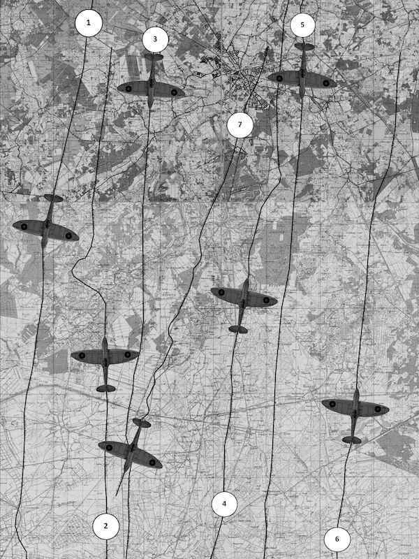 RAF Foto-verkenningsvlucht 1944 boven Budel en omgeving