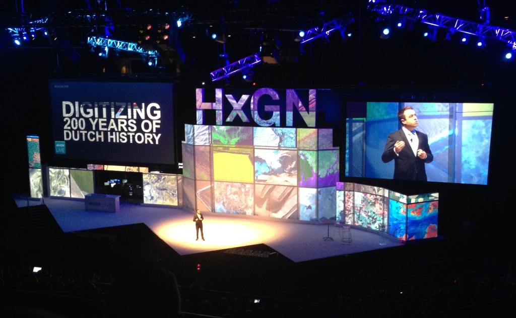 Dotka features in HxGN Live opening session with Mladen Stojic from Hexagon Geospatial