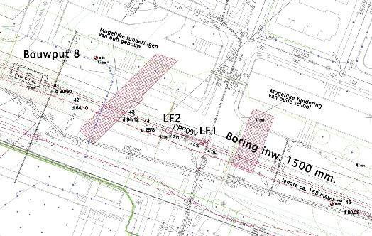 Optimalisatie van boor-tracé Kardinaal de Jongweg te Utrecht door voorkennis van oude fundamenten uit historische luchtfoto's.