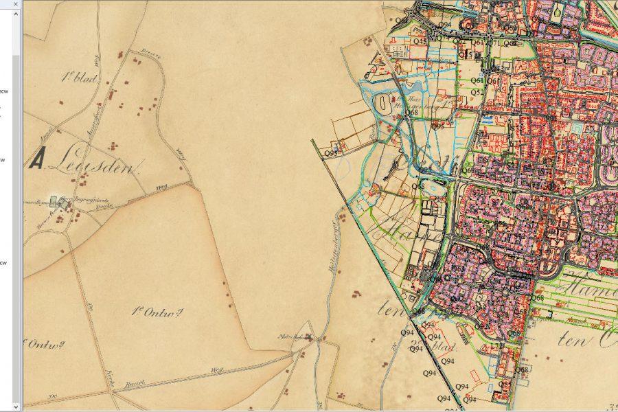 historische kaarten van Leusden en Stoutenburg